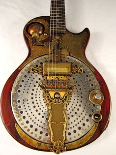 The IonoGlobe guitar, played by Farber Endison in the late 1950ies. #steampunk