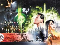 HISTORY OF THE DC UNIVERSE COVER ( 2003, ALEX ROSS ), in www.ComicLink.com Original Art Auctions and Exchange's PRIOR AUCTION - 2012-11 - FEATURED AUCTION HIGHLIGHTS Comic Art Gallery Room - 931037