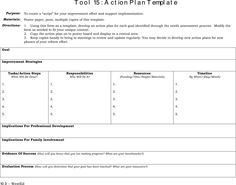 action plan template for teachers