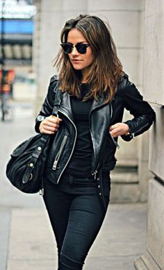#street #style / all black + leather