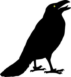 free crow patterns crow standing clip art vector clip art online rh pinterest com crown clip art free crown clipart black and white