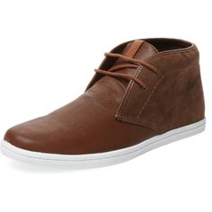Ben Sherman Men's Victor Leather Chukka Sneaker - Cognac - Size 10 ($59) ❤ liked on Polyvore featuring men's fashion, men's shoes, men's sneakers, cognac, mens leather sneakers, mens shoes, ben sherman mens shoes, mens chukka sneakers and mens sneakers