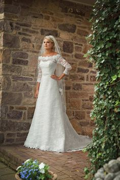 38c5fa36997e Off-the-shoulder A-line Elegant Beading Wedding Dress http