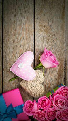 New flowers wallpaper desktop pink Ideas Heart Wallpaper, Wallpaper Iphone Cute, Love Wallpaper, Cellphone Wallpaper, Flower Backgrounds, Wallpaper Backgrounds, Holiday Wallpaper, Pink Iphone, Free Hd Wallpapers