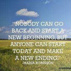 NEW BEGINNING AND NEW ENDING