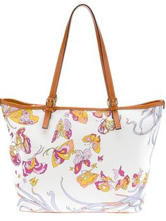 Emilio Pucci Butterfly Print Tote