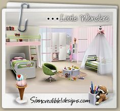 | SIMcredible! Designs 3 | TOP quality Content for sims games  Little wonders kids room nursery
