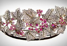 The Danish Ruby Parure Tiara belonging to Her Royal Highness, The Crown Princess of Denmark, Countess Mary of Monzpeat