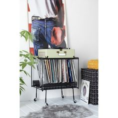 Perforated Vinyl Record Table ($60) ❤ liked on Polyvore