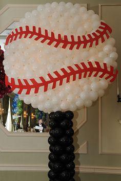 Baseball Balloon Sculpture with Lights