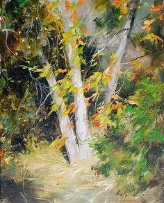 "Daily Paintworks - ""Autumn Sunlight"" - Original Fine Art for Sale - © Kelvin Lei"