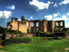 Roman ruins. Imperial baths at Trier, Germany
