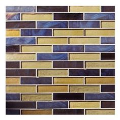 Collection Name: Blue™.Components: Dusk Non-Irid.Item Description: x 3 Offset Joint.Square Feet Per Sheet: Size: 10 x Item Number: 103799 Oceanside Glasstile, Artistic Tile, Blue Mosaic, Nebraska Furniture Mart, Beach Cottages, Recycling, Bricks, Item Number, Square Feet