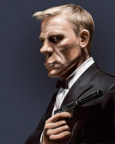 celebrity+caricatures | 52 Amazing examples of Celebrity Caricatures Daniel Craig