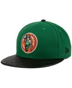 New Era Boston Celtics Visor Cross 9FIFTY Snapback Cap - Black/Green Adjustable