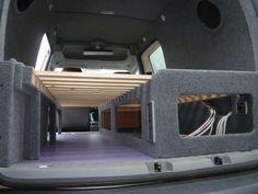 Image Vw Camping, Truck Bed Camping, Minivan Camping, Transit Connect Camper, Ford Transit Camper, Diy Van Conversions, Camper Van Conversion Diy, Mini Camper, Truck Camper