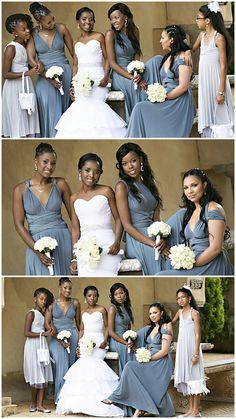 Bridesmaid dresses by Gelique,