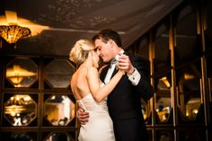 Real Life Wedding: Kellie & Sandy - The Ever After Story - Gorgeous first dance shot! And those art deco mirrors? We die!