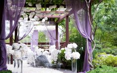 fabric and vines.. simple and beautiful