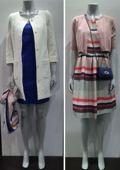 #ss15 #spring #dress #Boss Stribet kjole #SMaxMara Bolero strik #Mulberry Taske #Sand Jakke #Armani Kjole #Mindofline Tørklæde www.FLOT.nu
