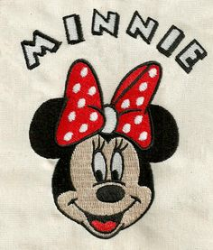 elizabethk314 - Minnie 045 - Machine Embroidery Design  (shipping via email)