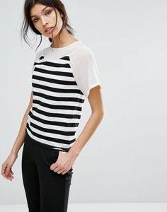 Sisley Stripe T-Shirt with Sheer Panels