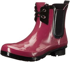 Roma Womens Chelsea Rain Boot Claret Lace 9 M US *** Be sure to check out this awesome product.