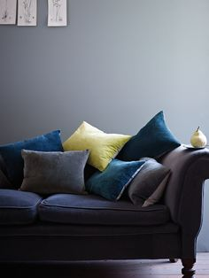Chic Showcase: Velvet and Linen Cushions from Cox and Cox, watch out for velvet this the coming Autumn season