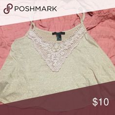 Blush pink detailed crop top Such a cute crop top for the summer! Color is a blush pink (photo doesn't do it justice!) Forever 21 Tops Crop Tops