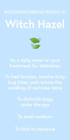 Why you should always have witch hazel on hand