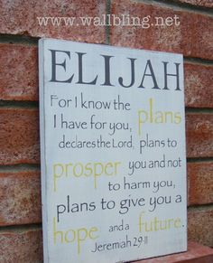 Items similar to Personalized Name Wood Sign - Jeremiah For I Know the Plans I Have for You. on Etsy Baby Boy Rooms, Baby Boy Nurseries, Baby Lane, Adoption Party, Valentines Day For Him, Jeremiah 29 11, I Know The Plans, Name Design, Baby Quotes