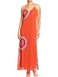 Women's Sunburst Chiffon Maxi Dresses