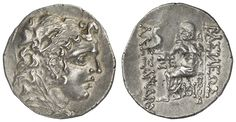 PONTOS, Mithradates VI., 120-63 BC, silver tetradrachm, 2. Mithradaischer war, 83-82 BC, Odessa, Aversum: head of the Mithradates as Alasdair respectively Heracles, reverse: Zeus enthroned left, prize 1077.15. 98 g, very expressive portrait in excellent condition    Dealer  Auction house Ulrich Felzmann    Auction  Minimum Bid:  250.00 EUR