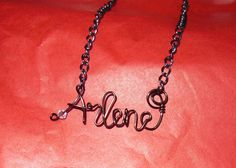 Personalized Wire Name Necklace by JenBeeCardCo on Etsy