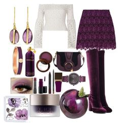 """""""plum"""" by esha2232 on Polyvore featuring Alice + Olivia, MAC Cosmetics, Fashion Fair, Charriol, Tom Ford, Michael Kors, Montale, Laurence Dacade, River Island and Pippa Small"""