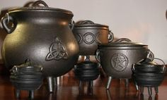 Excellent collection of cauldrons!