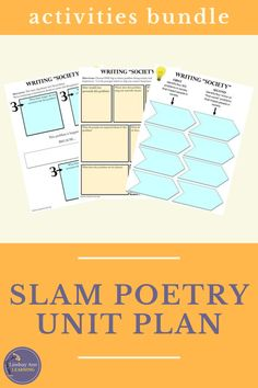 This no prep, engaging, CCSS-aligned slam poetry unit is packed with student-centered activities and assignments designed to promote inquiry and self-expression as students explore and write slam poetry / spoken word poetry. Writing poetry can be a fun, interactive, student-centered experience that engages every learner! Build writing, reading, speaking and listening, and meta-cognitive skills with these digital and print resources for Google Drive. #distancelearning #secondaryenglish Poetry Lesson Plans, English Lesson Plans, Poetry Lessons, Poetry Unit, Writing Poetry, English Language, Language Arts, Creative Writing Tips, Teaching Poetry
