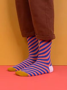 knee high socks   Sticky Lemon Colorful Backpacks, Knee High Socks, Big Kids, Rubber Rain Boots, Stripes, Fashion Outfits, Ink Blue, Pink, Lemon