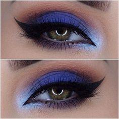 Picture score for blue makeup eye girl - augen make up - Eye Makeup Blue Eye Makeup, Smokey Eye Makeup, Eyeshadow Makeup, Blue Eyeshadow, Makeup For Blue Dress, Sexy Eye Makeup, Blue Makeup Looks, Purple Lipstick, Airbrush Makeup