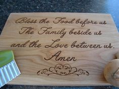 Personlized custom laser engraved cutting boards perfect for a wedding, anniversary, house warming, christmas, mother day gift on Etsy, $30.00