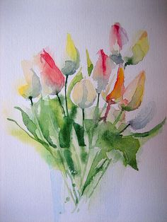 "IMG_4107 | Aquarell""Erste Tulpen"" | anelest | Flickr"