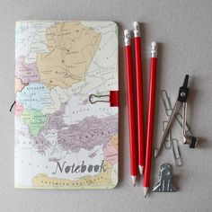 map notebook - awesome travel journal idea. #DIY