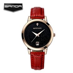 SANDA Brand New Fashion Watches Women Star Soft Leather Watchband Waterproof watch Calendar Casual Clock Women Quartz Watch #>=#>=#>=#>=#> Click on the pin to check out discount price, color, size, shipping, etc. Save and like it!