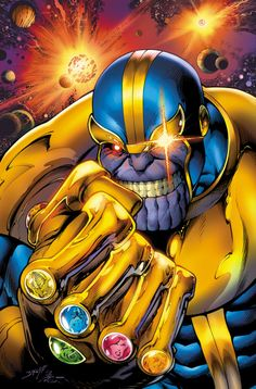 "Sweet cover to the upcoming "" #Avengers Assemble"" #7. Thanos, the Infinity Gauntlet and the Avengers (movie team)"