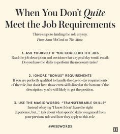 How to Land the Job When You are This-Close To Qualified