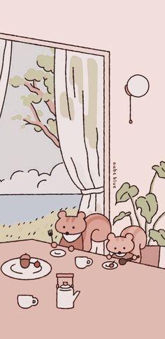 Cute Pastel Wallpaper, Anime Wallpaper Live, Laptop Wallpaper, Kawaii Wallpaper, Screen Wallpaper, Chill Photos, Astronaut Drawing, App Covers, Cute Cartoon Wallpapers