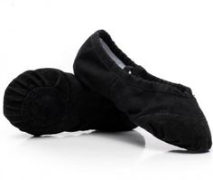 ballet shoes 10 black leather toe