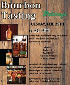 February's Bourbon Event at Delaney's