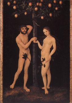 ❤ - LUCAS CRANACH (1472 - 1553) -  Adam and Eve. Koninklijk Museum voor Schone Kunsten, Antwerp.