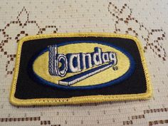 Vintage Bandag Applique Patch Crest Logo by LouisandRileys on Etsy